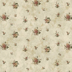 Wallpaper Worldwide - California - In Bloom Wallpaper, Green, Red - Material: Paper Backed. PVC.