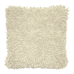 """St. Croix - St. Croix PCHS1806 Pillow, 18"""" X 18"""" - Whether you call them spongy, squishy, plush, lush, sumptuous, or springy, the Shagadelic Chenille Pillow is definitely soooooft! The ideal choice for kids to roll around with, to make a funky statement in a dorm room, or to accent a new baby's room, the Shagadelic Chenille pillow is handmade using natural chenille fibers. By using a unique twisting method, we've created hundreds of plush little """"fingers"""" that simultaneously squish and support. This white double sided plush pillow has over 1 1/4 inch deep pile. Filled with siliconized polyester that is considered anti-microbial and hypoallergenic."""