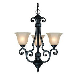 Dolan Designs - Dolan Designs 776-34 Winston Olde World Iron 3 Light Chandelier - Dolan Designs 776-34 Winston Olde World Iron 3 Light Chandelier