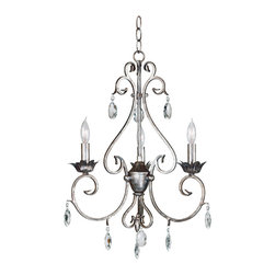 Kenroy - Kenroy 91343WS Antoinette 3-Light Chandelier - Kenroy 91343WS Antoinette 3-Light Chandelier