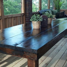 Rustic Outdoor Dining Tables by James and James Furniture