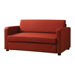 Adarn Inc - Modern Convertible Flat L Type Red Fabric Adjustable Folding Sofa Bed Sleeper - Get the most use out of your living room, family room or home entertainment room with the help of this adjustable sofa bed. This sofa offers comfortable seating as well as the ability to convert the sofa into a bed. The red fabric completes the modern design. This modern sofa bed will offer endless arrangements, plenty of space for family and friends, and comfortable seating in your home for years to come.