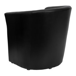 Flash Furniture - Flash Furniture Accent Chair X-GG-RTQ-KB-10-S-OG - The Perfect Reception, Side, Meeting, Or Lounge Chair. This Black Leather Contemporary Reception chair features a hollow panel design, soft black leather, and a well padded seat and back. Suitable for any office reception area or for use as a side chair by your desk, you can be assured that this chair will provide a nice contemporary look to match your decor. [GO-S-01-BK-QTR-GG]