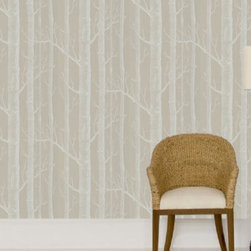 Cole & Son - Woods 12149 Wallpaper | Viesso - All of the rich, majestic beauty of the outdoors without any of the leaves and mess. The luxurious, modern Woods 12149 Wallpaper by Cole & Son boasts a large-scale, sophisticated image of trees with rich, modern colorings. Cole & Son is the definitive source of high-art, luxury wallpaper design and printing. Not only is Cole & Sons wallpaper found in places like the White House and Buckingham Palace, but the traditional printing methods from 1875 yielding unique and rich textures are practices that their craftsmen still hold onto. The contemporary adaptations and coloring that their Design Studio provides to their archive of approximately 1,800 block print designs, 350 screenprint designs and a huge quantity of original drawings and wallpapers, representing all the styles from the 18th, 19th and early 20th centuries, it is no surprise top designers like Tom Dixon, Pierro Fornasetti, and Vivienne Westwood all boast collaborative collections with them.