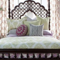 Ludoli Bed Collection by John Robshaw - The changing of the seasons is a great time to switch out bedding and other textiles. I love John Robshaw's collection of block-printed bedding. The colors are perfect for summer.