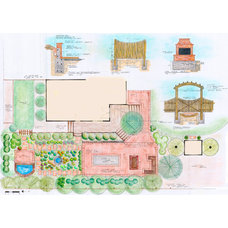Traditional Site And Landscape Plan by Ivy Street Design