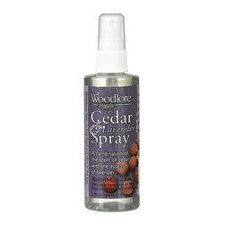 Cedar-Lavender Spray - Cedar sprays freshen a room, closet or dresser drawer. Each is made with essential oils and quick-drying denatured alcohol.