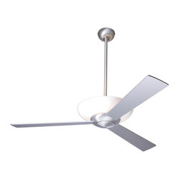 "Modern Fan Company - Modern Fan Company Aurora Brushed Aluminum 52"" Ceiling Fan - Features:"