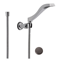 Delta - Delta Delta 55051-RB Oil Rubbed Bronze Wall-Mount Handshower - Delta 55051 Dryden Collection offers a design style reminiscent of the Art Deco period  with geometric line for a clean and appealing addition to you design style. The Delta 55051 is a Wallmount Hand Shower in Chrome.