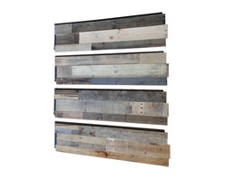 Sustainable Lumber Co. - Reclaimed Wood Wall Panels, Set of 4 - Each set comes with 4 panels.