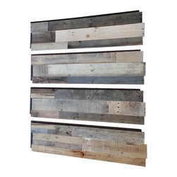 Sustainable Lumber Co. - Easy Install Reclaimed Wood Wall Panels (Set of 4 Panels) - Each set comes with 4 panels.