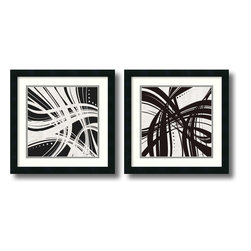 Amanti Art - Jason Higby 'Whip It- set of 2' Framed Art Print 18 x 18-inch Each - A fresh, contemporary choice for any room, this framed art set by Jason Higby will infuse your decor with a modern flair.
