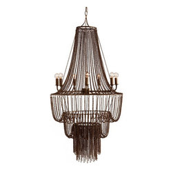 Arteriors Home - Arteriors Home Maxim 7L Iron Beaded Chandelier - Arteriors Home 89414 - Arteriors Home 89414 - The Maxim Iron Beaded Chandelier from Arteriors features an impressive 3 tiers of iron-beaded swags. A stunning focal point that's sure to impress any guest. Place in large open spaces such as foyers, dining rooms, or modern covered patios. Large enough for commercial establishments.