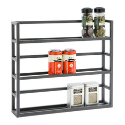 Iron Spice Rack - If you want to keep it minimal and neat, this iron rack is all you need.