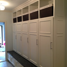 Custom lockers. Perfect for a mudroom.