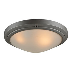 "PLC - Ricci II Collection 16"" Wide Bronze Outdoor Ceiling Light - From the Ricci II collection this stylish outdoor ceiling light has a simple and unimposing circular design. It comes in a beautiful bronze finish with frosted glass. Can be installed as a ceiling or wall light fixture. Ricci II outdoor light fixture. Bronze finish. Frosted glass. Ceiling or wall mountable. UL listed for wet locations. Takes two maximum 60 watt or equivalent bulbs (not included). 16"" high. 16"" wide. Extends 5 1/2"" from the wall.  Ricci II outdoor light fixture.  Bronze finish.  Frosted glass.  Ceiling or wall mountable.  Damp location rated only.  Takes two maximum 60 watt or equivalent bulbs (not included).  16"" high.  16"" wide.  Extends 5 1/2"" from the wall."