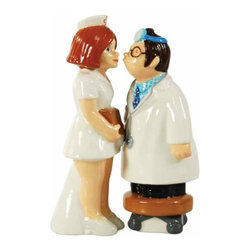 WL - 4.5 Inch Kitchenware Doctor and Nurse Figurine Salt and Pepper Shakers - This gorgeous 4.5 Inch Kitchenware Doctor and Nurse Figurine Salt and Pepper Shakers has the finest details and highest quality you will find anywhere! 4.5 Inch Kitchenware Doctor and Nurse Figurine Salt and Pepper Shakers is truly remarkable.