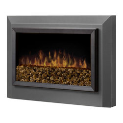 Dimplex - Dimplex Pelham Wall-Mount Electric Fireplace in Pewter Grey - Dimplex - Fireplaces - DWF1146GP - Get the look and feel of a wood-burning stove without all the hassle using this full-size electric stove heater. Featuring a beautiful black finish and a cool-to-the-touch glass door the Dimplex DS7425 Deluxe Electric Stove is a perfect addition to your family room or bedroom. This portable electric stove requires no assembly; just plug it in and experience inviting fireplace ambiance right out of the box.