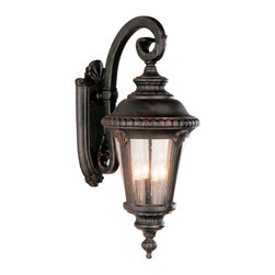 "Trans Globe Lighting - Trans Globe Lighting 5045 BC Stonebridge 29"" Coach Wall Lantern - An ornamental offering from Trans Globe Lighting Italian Estate collection. Braided trim with leaf window accents, and seeded glass. Fine outdoor lighting style."