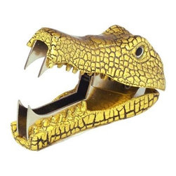 Yellow Crocodile Staple Remover - I'll need some cute, fun things on my workspace to keep me motivated. This alligator staple remover is just the thing.
