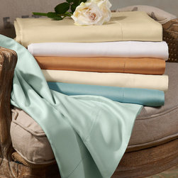 Bissful Bamboo Sheet Set - Deluxe resort-style sheets of rayon made from bamboo offer dreamy silk-like softness as well as outstanding moisture-wicking properties. These beautiful, breathable sheets adapt to your body temperature so you stay warm in winter, cool in summer for comfy sleep year-round.