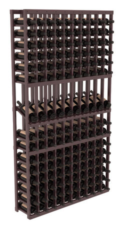 Wine Racks America - 10 Column Display Row Wine Cellar Kit in Redwood, Burgundy Stain + Satin Finish - Make your 10 best vintages the focal point in your wine cellar. Display rows allow presentation of favored labels and encourages simple cellar organization. Our wine cellar kits are constructed to industry-leading standards. You'll be satisfied. We guarantee it.
