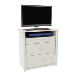 Ameriwood - Ameriwood Media Chest in White Stipple - Ameriwood - Chests - 5514015PCOM
