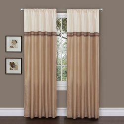 Lush Decor - Terra Beige/Ivory Window Curtain, Set of Two - - Fun colors and classy designs makes this drapery set perfect for any room. Top loop slides easily onto your curtain rod for quick installation. Full lining provides extra insulation and privacy. Durable fabric promises lasting quality.  - Size - 54X84  - Includes: 2 Window Panels  - Top Pocket - Rod Pocket  - Non-Weighted  - Additional Hardware Necessary - Rod  - Panel: 54x84  - Fabric Content:100% Polyester  - Care Instructions: Comforter/bed skirt/shams: dry clean * Pillows: spot clean  Lush Decor - C01004Q12