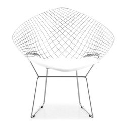 Zuo Modern - Zuo Modern Net Modern Dining Chair (Pack of 2) X-120881 - The Net dining chair is 100% solid chrome and has two cushion choices: black or white.