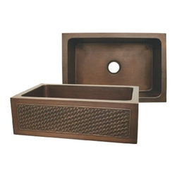 Whitehaus Collection - Smooth Copper Whitehaus WH3020COFCBW Copper Single Bowl Front Apron Kitchen Sink - Complement your kitchen d?cor with a copper single bowl front apron kitchen sink by Whitehaus. It will fit perfectly in any kitchen decor. It's universal appeal, practical functionality with ornamental details will keep attractive look for a long time. Use it to make food preparation and other kitchen activities. Classic, timeless designed elements can make modern d?cor more attractive and desirable.