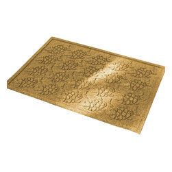 Bungalow Flooring - 24 in. L x 36 in. W Yellow Waterguard Tropical Fish Mat - Made to order. Fun fish design traps dirt, resists fading, rot and mildew. Indoor and outdoor use. 24 in. L x 36 in. W x 0.5 in. H