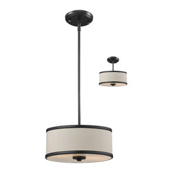 Z-Lite - Light Down Light Convertible Pendant Semi Flush FixtureCameo Collection - With its clean, functional lines and chrome accents, this Convertible Pendant / Semi-Flush Fixture features a bottom glass diffuser that softens the light output.