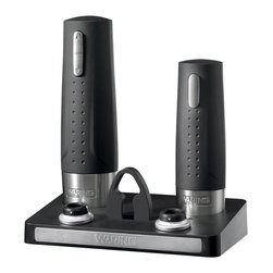 Waring Pro - Waring Pro Wine Center with Electric Wine Opener and Preserver - Take the worry out of serving wine. You'll rely on this whiz of an opener to easily handle natural and synthetic corks, and the  preserver to perfectly seal unfinished bottles. Cheers!