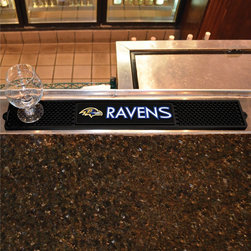 None - NFL AFC Team Inspired Drink Mat - Featuring your favorite NFL team's logo, this drink mat is perfect to use while watching the game or on a daily basis. With a sleek design, this rubber drink mat protects any table or counter surface.