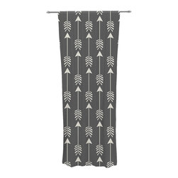 "Kess InHouse - Amanda Lane ""Tribal Arrows Dark Gray"" Decorative Sheer Curtain - Let the light in with these sheer artistic curtains. Showcase your style with thousands of pieces of art to choose from. Spruce up your living room, bedroom, dining room, or even use as a room divider. These polyester sheer curtains are 30"" x 84"" and sold individually for mixing & matching of styles. Brighten your indoor decor with these transparent accent curtains."