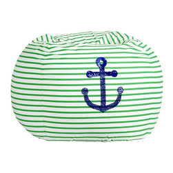Anchor Sea Breeze Stripe Beanbag - How fun is this beanbag? I am always a sucker for kelly green stripes, and I love the sparkly sequins, so this is perfect. I'd throw a few in a basement for hanging out.