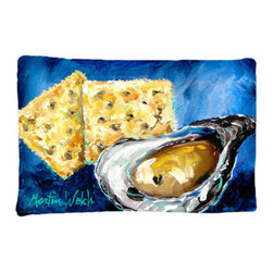 Caroline's Treasures - Oysters Two Crackers Fabric Standard Pillowcase Moisture Wicking Material - Standard White on back with artwork on the front of the pillowcase, 20.5 in w x 30 in. Nice jersy knit Moisture wicking material that wicks the moisture away from the head like a sports fabric (similar to Nike or Under Armour), breathable performance fabric makes for a nice sleeping experience and shows quality. Wash cold and dry medium. Fabric even gets softer as you wash it. No ironing required.