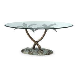 "SPI - Palm Tree Coffee Table - -Size: 21"" H x 48"" W x 26"" D"