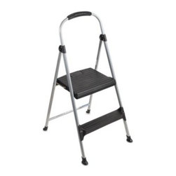 Cosco - Cosco 2-Step Signature Premium Folding Step Stool - This lightweight step stool is easy to carry to multiple jobs, making it convenient and functional for plenty of uses.