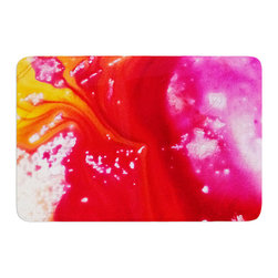 """KESS InHouse - Malia Shields """"The Color River III"""" Orange Red Memory Foam Bath Mat (17"""" x 24"""") - These super absorbent bath mats will add comfort and style to your bathroom. These memory foam mats will feel like you are in a spa every time you step out of the shower. Available in two sizes, 17"""" x 24"""" and 24"""" x 36"""", with a .5"""" thickness and non skid backing, these will fit every style of bathroom. Add comfort like never before in front of your vanity, sink, bathtub, shower or even laundry room. Machine wash cold, gentle cycle, tumble dry low or lay flat to dry. Printed on single side."""
