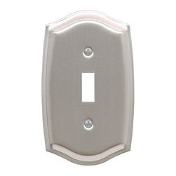 Baldwin Hardware - Colonial 1 Toggle Wall Plate in Satin Nickel (4756.150.CD) - Feel the difference as Baldwin hardware is solid throughout, with a 60 year legacy of superior style and quality. Baldwin is the choice for an elegant and secure presence. Baldwin guarantees the beauty of our finishes and the performance of our craftsmanship for as long as you own your home.