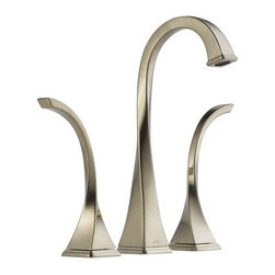 "Brizo - Brizo 65430LF-BN Brushed Nickel Virage Virage Bathroom Faucet Vessel - Virage Low Lead Compliant WaterSense Double Handle Widespread Vessel Bathroom Faucet with Metal Lever HandlesElegantly twisted forms create a hand crafted work of art for the bath. Spout features water-efficient, hidden laminar flow aerator. WaterSense Certified:1.5 gpm @ 60psi, 5.7L/min @ 413kPa.Faucet Features:Two handle lavatory faucet for concealed mounting on 3 hole applications.Widespread - 6"" (152mm) to 16"" (406 mm) centers.5 9/16"" (141 mm) long, 12 11/32"" (313 mm) high rigid spout.Control mechanism shall be of the rotating ceramic cylinder type with 90- (1/4 turn) rotation.Metal grid strainer with overflow included.Optional grid strainer without overflow (RP60467), push button pop-up with overflow (RP52487) or push button pop-up without overflow (RP52488).Accommodates up to 3"" deck thickness.Maximum flow rate 1.5 gpm @ 60 PSIFaucet Specifications:ADA Compliant: NoLow Lead Compliant: YesWaterSense Certified: YesOverall Height: 12.3438""Width: 2.3750""Spout Height: 9.5625""Spout Reach: 5.5625""Faucet Centers: 6"" - 16""Faucet Holes: 3Flow Rate (GPM): 1.5Product Weight: 9.150 lbs.Number Of Handles: 2Handle Style: Metal LeverHandles Included: YesDrain Assembly Included: YesEscutcheon Included: NoMounting Type: WidespreadValve Included: YesValve Type: Ceramic DiscBrizo Faucet TechnologiesWaterSense: The WaterSense label signifies Brizo s commitment to working with the Environmental Protection Agency (EPA) to encourage the efficient use of water and actively protect the future of our nation s water supply. WaterSense labeled faucets use 20% less water and perform as well or better than their less effici"