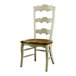 Hooker Furniture - Hooker Furniture Set of 2 Summerglen Ladderback Side Chair 479-75-410 - Bring a little summer into your life all year round with this casual country dining group. The summerglen ladderback side chair will liven up any dining area. The contrast between the hand painted base and cherry seat, puts a lasting summer glow into the room, don't let the seasons change in your dining room, make this side chair your newest addition.
