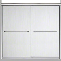 """STERLING PLUMBING - STERLING Finesse(TM) Frameless Sliding Bath Door - Height 55-1/2"""", Max. Opening - The Finesse Frameless Bath doors offer minimal metal framing around the glass to showcase the bathing enclosure."""