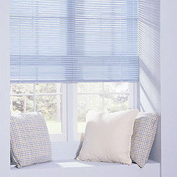 Levolor - Levolor Mark I Aluminum - Mini Blinds - The Mark I blind is Levolor's premier aluminum blind.  Features a large range of colors available with traditional lift cords or the safe and stylish cordless lift system.