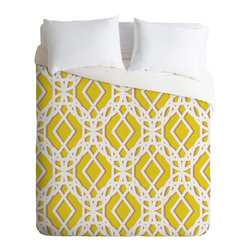 DENY Designs - Aimee St Hill Diamonds Duvet Cover - Turn your basic, boring down comforter into the super stylish focal point of your bedroom. Our Luxe Duvet is made from a heavy-weight luxurious woven polyester with a 50% cotton/50% polyester cream bottom. It also includes a hidden zipper with interior corner ties to secure your comforter. it's comfy, fade-resistant, and custom printed for each and every customer.