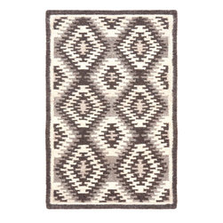 Area Rugs - Dash and Albert Nordic Kilim Grey patterned wool area rugs. Made from 83% wool and 17% cotton. J Brulee Home, Tucson, AZ