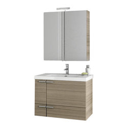 ACF - 31 Inch Larch Canapa Bathroom Vanity Set - Manufactured in Italy by ACF, this luxury bath vanity is best in contemporary & modern bathrooms.
