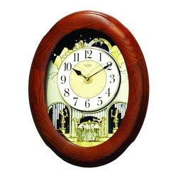 Rhythm - Joyful Nostalgia Oak Magic Motion clock - A Rhythm masterpiece
