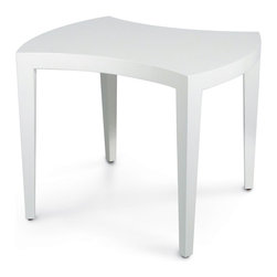 Palecek - Jigsaw White Coffee Table - Plantation grown hardwood frame finished in bright white lacquer. Table can be used individually or together to form larger table.
